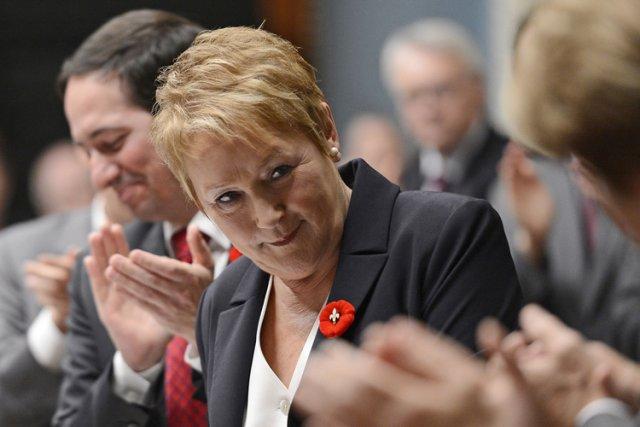 Pauline Marois lors de son discours inaugural à... (Photo: Reuters)