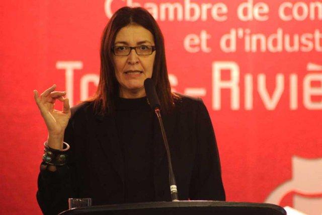 Nadia Ghazzali, rectrice de l'UQTR.... (Photo: Sylvain Mayer)
