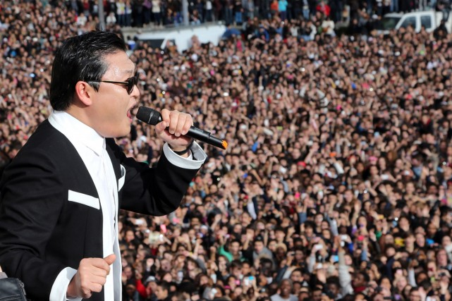 Le chanteur sud-coréen Psy.... (Photo: archives AFP)