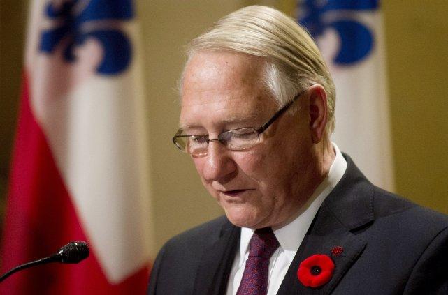 Gérald Tremblay, lors de l'annonce de sa démission,... (La Presse Canadienne)