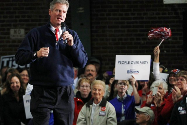 Le sénateur sortant du Massachusetts, Scott Brown, est... (PHOTO JESSICA RINALDI, REUTERS)