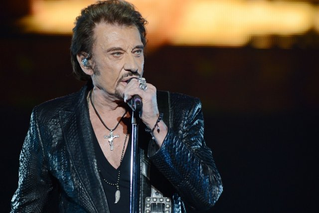 Johnny Hallyday... (Photo: AFP)