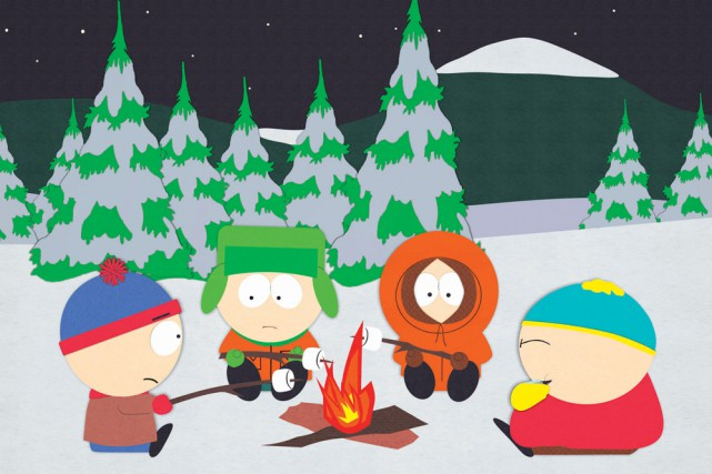 Les colorés personnages du dessin animé South Park continueront de... (PHOTO ARCHIVES AP)