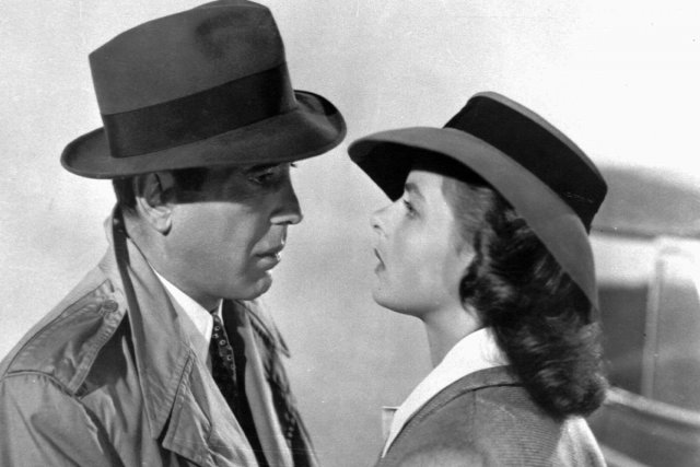 Humphrey Bogart et Ingrid Bergman dans Casablanca.... (Photo: archives La Presse)