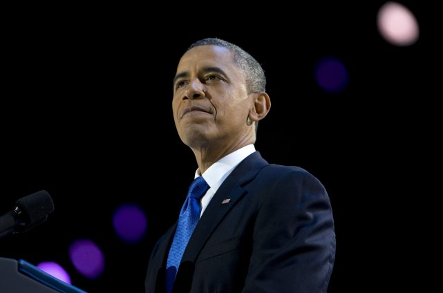 Barack Obama a décroché un deuxième mandat à... (Photo: Associated Press)