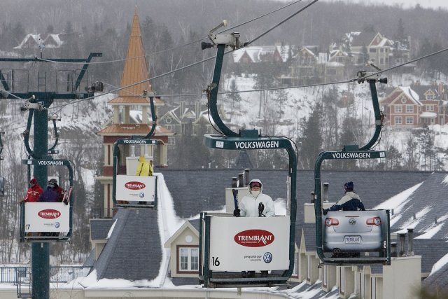 La sation de ski de Mont Tremblant.... (Photo: Patrick Sanfaçon, La Presse)