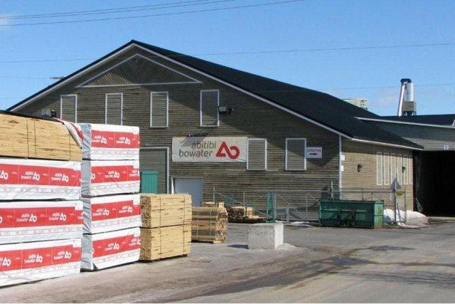 L'usine de Manseau en 2009 alors qu'elle est...
