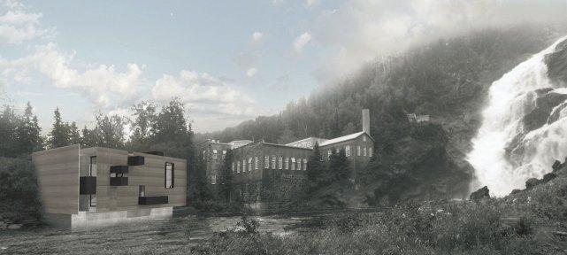 Le bâtiment abritant la centrale a été modifié... (Courtoisie)
