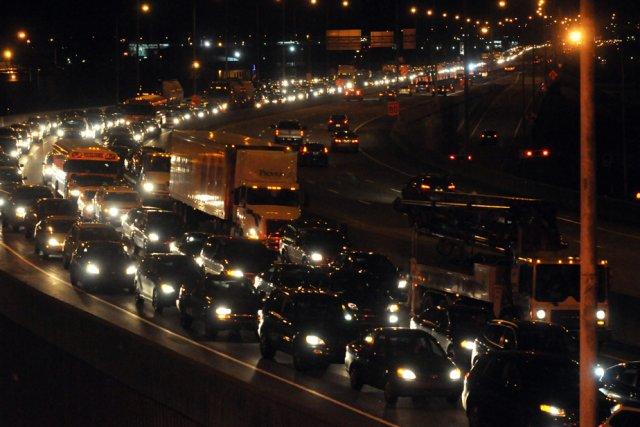 Un accident survenu vers 17 h hier, dans le secteur de la sortie du  boulevard... (Photo: François Gervais)