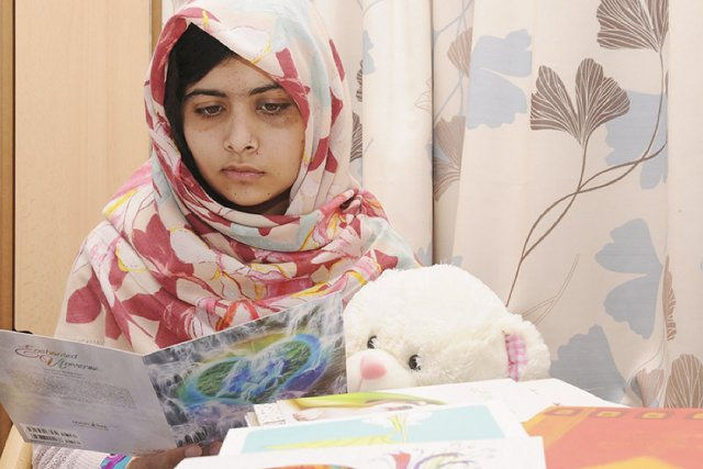 Malala Yousufzai est en convalescence dans un hôpital... (PHOTO AFP/HÔPITAL QUEEN ELIZABETH DE BIRGMINGHAM)