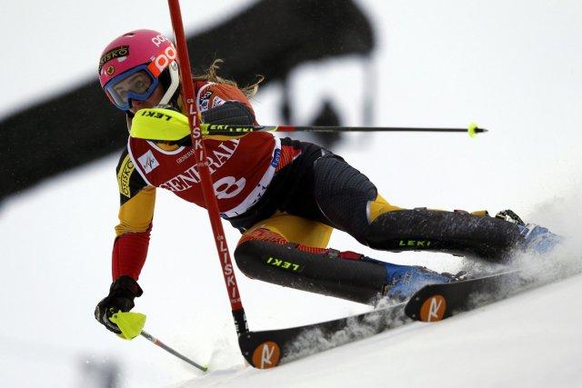 Marie-Michèle Gagnon s'était classée sixième du slalom géant... (Photo : Shinichiro Tanaka, AP)