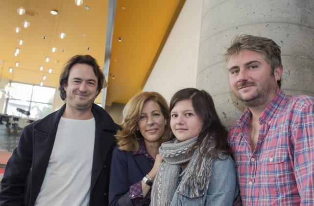 Portrait des acteurs Sébastien Ricard, Sophie Lorain et... (Photo: Édouard Plante-Fréchette, La Presse)