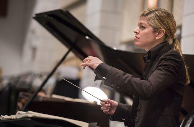Keri-Lynn Wilson, maestro.... (Photo: Edouard Plante-Fréchette, La Presse)