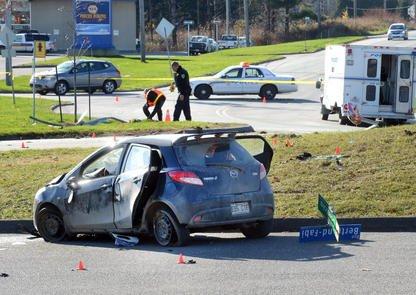 Une conductrice de 18 ans lutte pour sa vie à la suite d'un accident survenu... (Imacom, Maxime Picard)