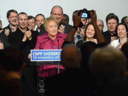 Présente à Sherbrooke dans le cadre de la Conférence nationale des présidentes... (Imacom, Maxime Picard)