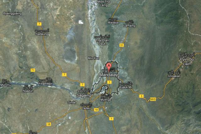 Le séisme s'est produit à une profondeur de... (Capture d'écran Google Maps)