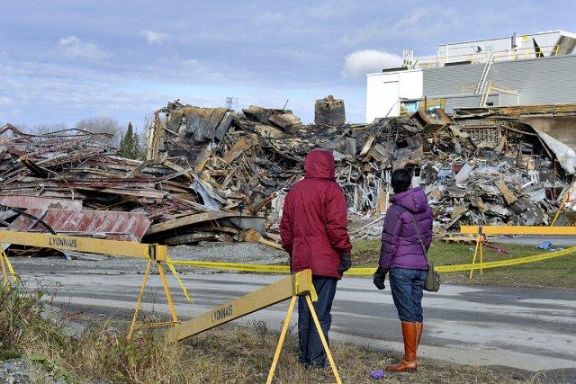 Au lendemain de l'explosion à l'usine Neptune, survenue... (Photo: Jessica Garneau, Imacom)