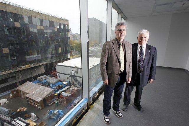 La construction du CHUM progresse au rythme prévu,... (Photo: Martin Chamberland, La Presse)