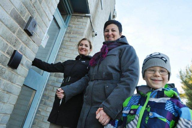 Le pavillon Le P'tit Bonheur, à l'école intégrée... (Photo: Émilie O'Connor)