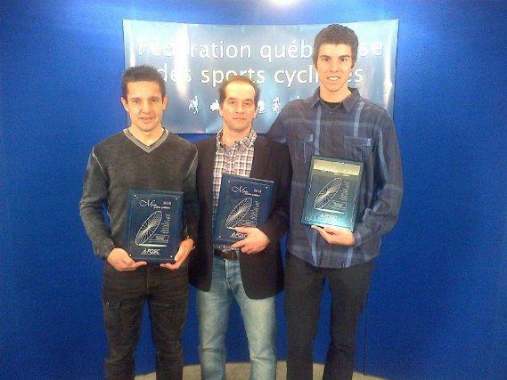 Christian Lalancette, Martin Demers et Léandre Bouchard ont... ((Courtoisie))