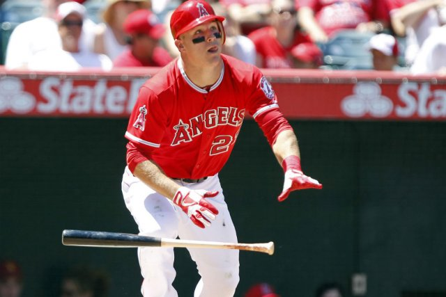 Mike Trout... (Photo Alex Gallardo, Reuters)