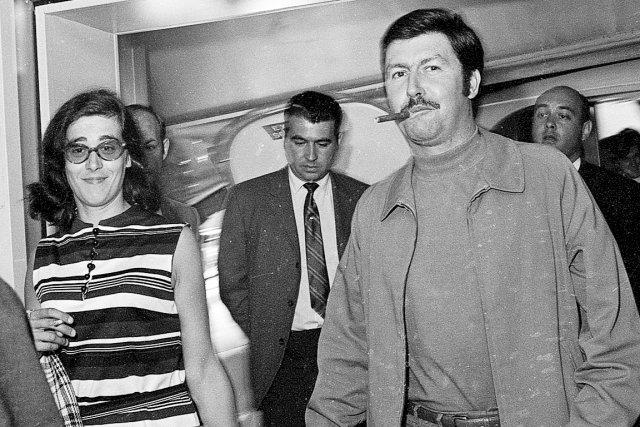 Le couple Jacques Mesrine et Jeanne Schneider à... (Archives Le Soleil)