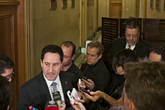 Michael Applebaum a tenu lundi un point de... (Photo: David Boily, La Presse)