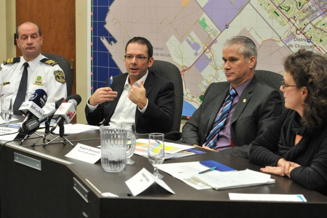 Les autorités municipales de Trois-Rivières ont présenté hier... (Photo: Stéphane Lessard)