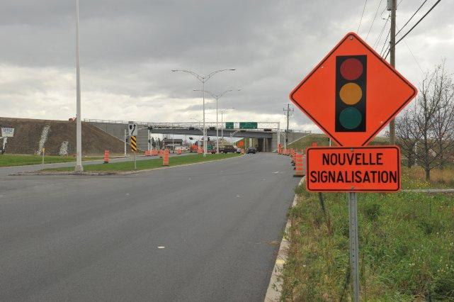Les Lennoxvillois devront prendre leur mal en patience. L'autoroute 410 sera... (Imacom, Claude Poulin)