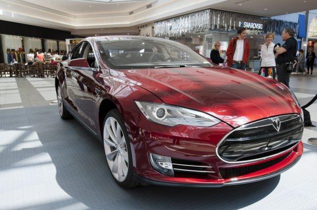 La Tesla Model S, voiture de l'année Motor... (Photo Ninon Pedneault, La Presse)