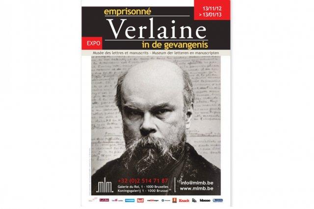 L'affiche de l'exposition Verlaine emprisonné... (Photo: site internet du Musée des lettres de Bruxelles)