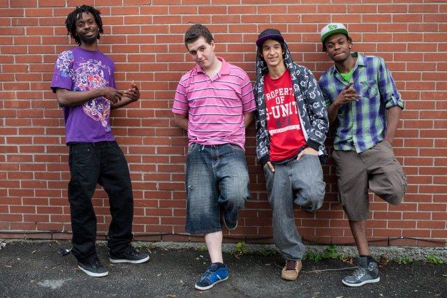 Michael, Danny, Alex et Mikerson, les quatre jeunes... (Photo: tirée du film Ma vie réelle)
