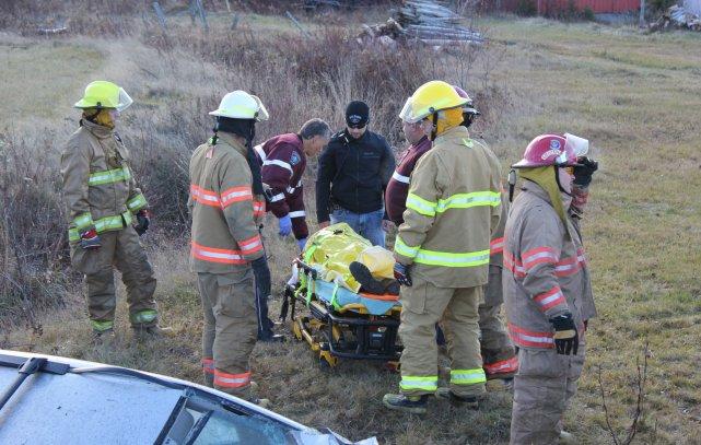 Un automobiliste a trouvé la mort, mercredi matin, lors d'une perte de ... (Photo collaboration spéciale, Daniel Couture)