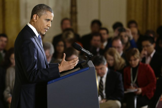 Barack Obama en conférence de presse à la... (Photo: AP)
