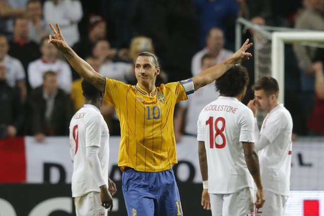Zlatan Ibrahimovic a signé un but tout simplement... (Photo Reuters)