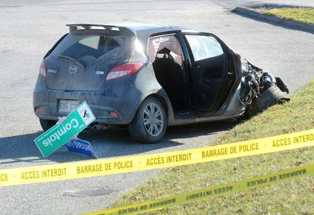 La jeune conductrice de 18ans impliquée dans l'accident survenu dans la  nuit... (Imacom, Maxime Picard)