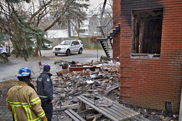 Après l'incendie criminel d'un bâtiment du domaine, dans... (Photo Patrick Sanfaçon, La Presse)