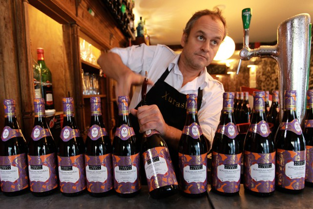 Le beaujolais nouveau est attendu pour novembre.... (PHOTO ARCHIVES Associated Press)