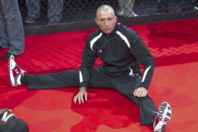 Georges St-Pierre a participé à un entraînement public,... (Photo: Hugo-Sébastien Aubert, La Presse)