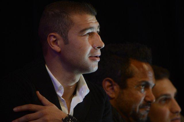 Lucian Bute était présent lors de la pesée... (Photo: Bernard Brault, La Presse)