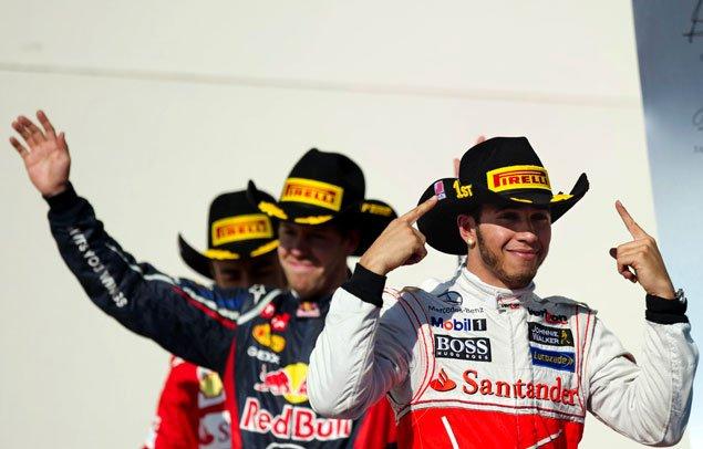 Lewis Hamilton, sur McLaren, a devancé Sebastian Vettel... (Agence France-Presse)