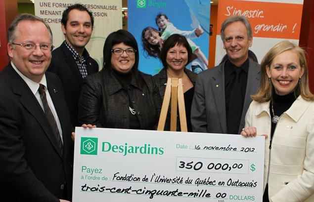 Desjardins investità nouveau dans l'Université du Québec en Outaouais. Le... (Courtoisie, Sylvain Marier)