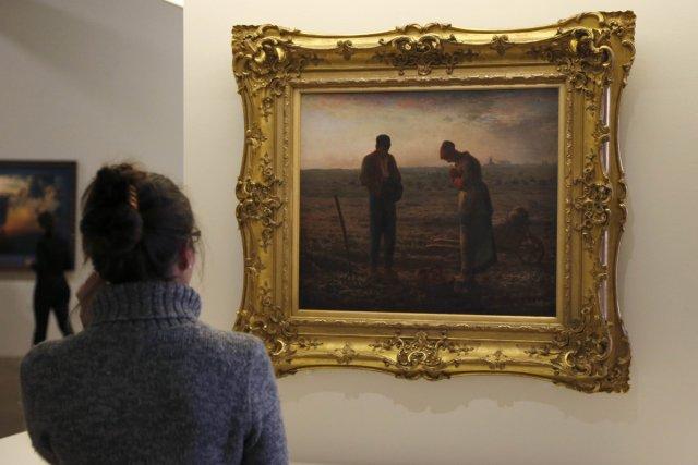 L'Angélus de Jean-Francois Millet fait partie de l'exposition... (Photo: AFP)