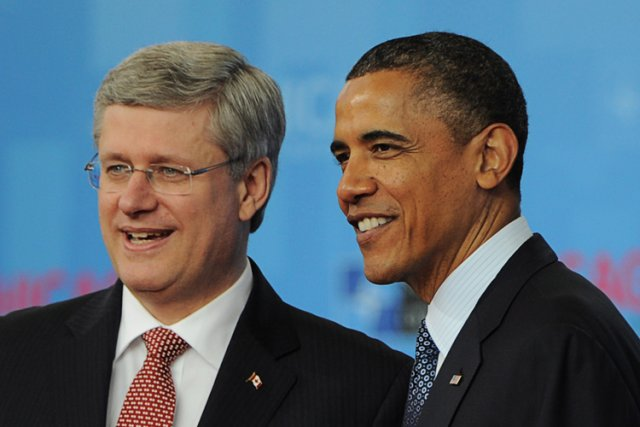 Stephen Harper et Barack Obama au sommet de... (Photo: PC)