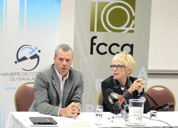 Le vice-président de la Chambre de Saguenay, Éric... (Photo Jeannot Levesque)