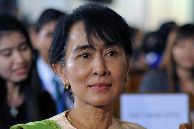 Aung San Suu Kyi, nouvelleambassadrice mondiale de l'ONUSIDA... (PHOTO JEWEL SAMAD, AFP)