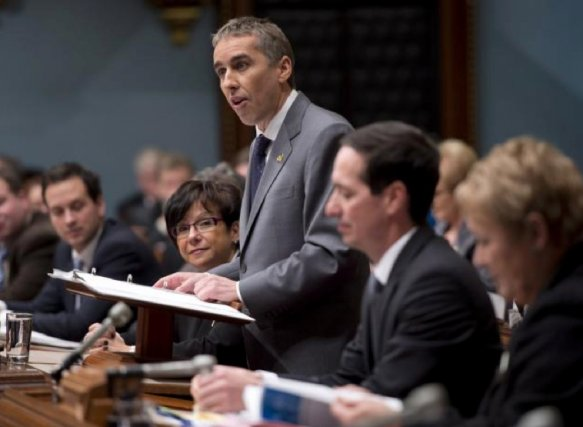 Le ministre des Finances, Nicolas Marceau, lors de... (Photo Presse canadienne)