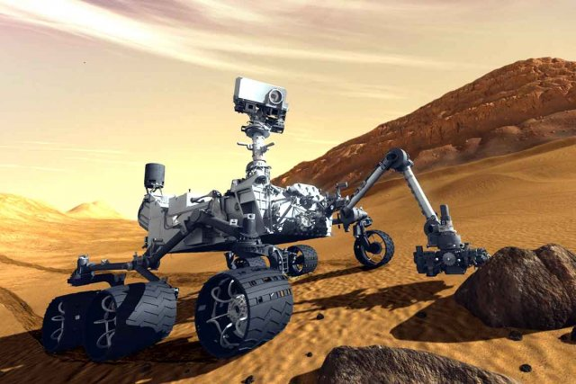 Le robot Curiosity (illustration) n'a pas fait de... (AP)