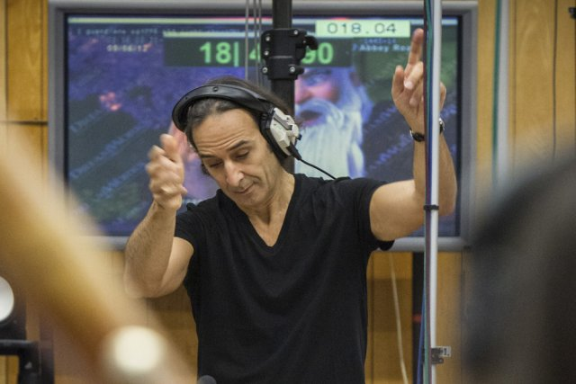 Alexandre Desplat lors d'une session d'enregistrement pour la... (Photo: fournie par la production)