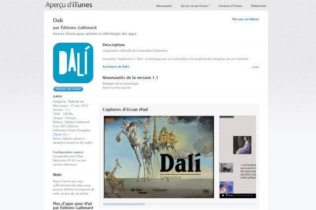 La grande rétrospective consacrée à Salvador Dali, qui se déroule  jusqu'au 25...